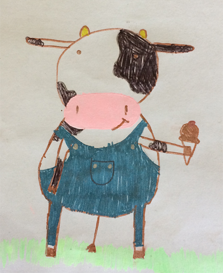 Drawing of Moo